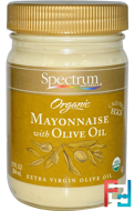 Organic Mayonnaise with Olive Oil, Spectrum Naturals, 12 fl oz (354 ml)