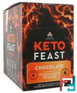 Keto Feast, Ketogenic Balanced Shake & Meal Replacement, Chocolate, 12 Single Serve Packets, Dr. Axe / Ancient Nutrition, 1.69 oz (48 g) Each