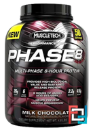 Phase8, Multi-Phase 8-Hour Protein, Performance Series, Muscletech, 4.60 lbs, 2090 g
