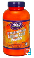 Branched Chain Amino Acid Powder, Now Foods, 340 g