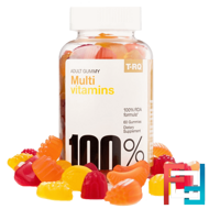 Multi Vitamins, Adult Gummy, Cherry Lemon Orange, T.RQ, 60 Gummies