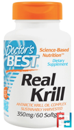 Real Krill, 350 mg, Doctor's Best, 60 Softgel Capsules