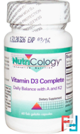 Vitamin D3 Complete, Nutricology, 60 Fish Gelatin Capsules