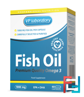 Fish Oil, VP Laboratory, 1000 mg, 60 capsules