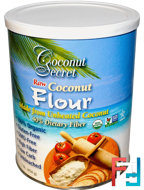 Raw Coconut Flour, Coconut Secret, 1 lb (454 g)