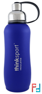 Thinksport, Insulated Sports Bottle, Blue, Think, 25 oz (750ml)