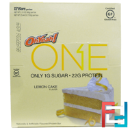 One Bar, Lemon Cake Flavor, Oh Yeah!, 12 Bars, 2.12 oz (60 g) Each