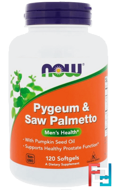 Pygeum & Saw Palmetto, Now Foods, 120 Softgels