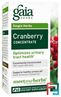 Cranberry Concentrate, Gaia Herbs, 60 Vegetarian Liquid Phyto-Caps