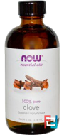 Essential Oils, Clove, Now Foods, 118 ml