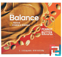 Nutrition Bar, Peanut Butter, Balance Bar, 6 Bars, 1.76 oz (50 g) Each