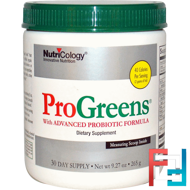 ProGreens, with Advanced Probiotic Formula, Nutricology, 9.27 oz (265 g)