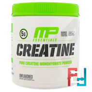 Creatine, Essentials, MusclePharm, Unflavored, 0.66 lbs, 300 g