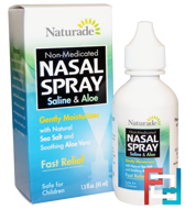 Nasal Spray, Saline & Aloe, Naturade, 1.5 fl oz (45 ml)