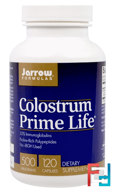 Colostrum Prime Life, Jarrow Formulas, 500 mg, 120 Capsules