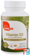 Vitamin D3, Orange Flavor, 2000 IU, Zahler, 120 Chewable Tablets