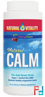 Natural Calm, The Anti-Stress Drink, Cherry Flavor, Natural Vitality, 16 oz (453 g)