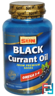 Black Currant Oil, 1,000 mg, Health From The Sun, 60 Softgels