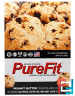 Premium Nutrition Bars, Peanut Butter Chocolate Chip, Pure Fit Bars, 15 Bars, 2 oz (57 g) Each