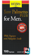 Saw Palmetto Plus For Men, Natural Balance, 100 Veggie Caps