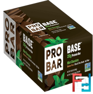 20 g Protein Bar, Mint Chocolate, ProBar, Base, 12 Bars, 2.46 oz (70 g) Each