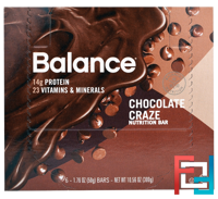 Nutrition Bar, Chocolate Craze, Balance Bar, 6 Bars, 1.76 oz (50 g) Each