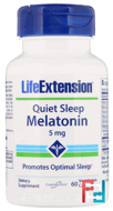 Quiet Sleep, Melatonin, Life Extension, 5 mg, 60 Veggie Caps