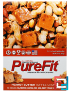 Premium Nutrition Bars, Peanut Butter Toffee Crunch, Pure Fit Bars, 15 Bars, 2 oz (57 g) Each