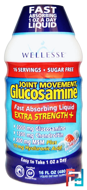 Joint Movement Glucosamine, Natural Berry Flavor, Wellesse Premium Liquid Supplements, 16 fl oz (480 ml)