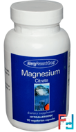 Magnesium Citrate, Allergy Research Group, 90 Veggie Caps