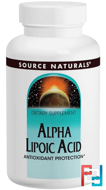 Alpha Lipoic Acid, 100 mg, Source Naturals, 120 Tablets