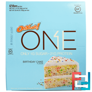 One Bar, Birthday Cake, Oh Yeah!, 12 Bars, 2.12 oz (60 g) Each