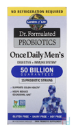 Once Daily's Men's, Dr. Formulated Probiotics, Garden of Life, 30 Veggie Caps