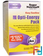 Opti-Energy Pack, Multivitamin/Multimineral Supplement, Iron-Free, Super Nutrition, 90 Packets, 4 Tabs Each