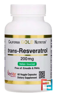 Trans-Resveratrol, Italian Sourced, California Gold Nutrition, 200 mg, 60 Veggie Capsules