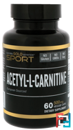 Acetyl-L-Carnitine, California Gold Nutrition, CGN, 500 mg, 60 Veggie Caps