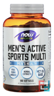 Men's Extreme Sports Multi, Sports, Now Foods, 180 Softgel