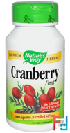 Cranberry Fruit, Nature's Way, 465 mg, 100 Capsules