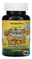 Omega 3/6/9 Junior, Source of Life, Animal Parade, Nature's Plus, 90 Softgels