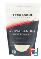 Terrasoul Superfoods, Ashwagandha Root Powder, Indian Ginseng, 16 oz, 454 g