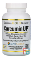 CurcuminUP, Omega-3 Curcumin Complex, Inflammation Support, California Gold Nutrition,90 Fish Gelatin Softgels