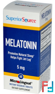 Melatonin, Superior Source, 5 mg, 60 MicroLingual Instant Dissolve Tablets