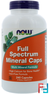Full Spectrum Minerals Caps, Now Foods, 240 Capsules
