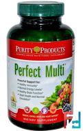 Perfect Multi, Purity Products, 120 Capsules