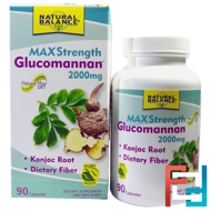 Glucomannan, Maximum Strength, Natural Balance, 2000 mg, 90 Capsules