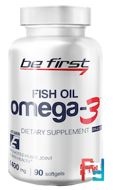 Omega-3 + vitamin E, Be First, 1400 mg, 90 gel capsules