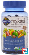 Mykind Organics, Men's Multi 40+, Organic Berry, Garden of Life, 120 Gummy Drops