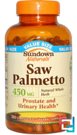 Saw Palmetto, 450 mg, Sundown Naturals, 250 Capsules