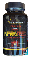 INFRA RED (50mg Ephedra+1,3DMAA), Gold Star, 60 capsules