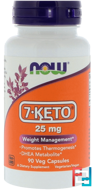 7-KETO, 25 mg, Now Foods, 90 Veg Capsules